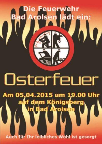 Plakat Osterfeuer 2015