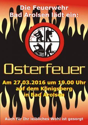 Plakat Osterfeuer 2016