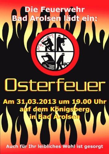 Plakat Osterfeuer 2013
