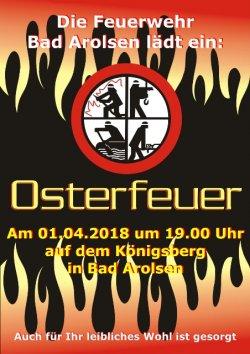 Plakat Osterfeuer 2018