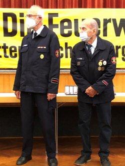 Gernot und Wolfgang 60 Jahre-Zugehörigkeit 2021